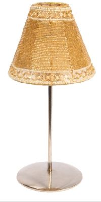 Gold Bead Candle Lamp Shade