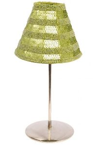 Green Sequins Candle Lamp Shade