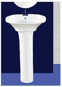 Plain Spice Pedestal Wash Basin