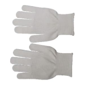 White Knitted Pvc Palm Dotted Glove