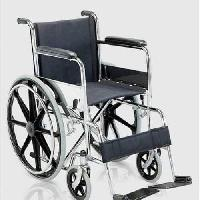 Folding Steel Wheelchair With Recliner Back & Foot