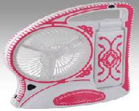 JY Jumbo Branded Rechargeable Fan With Torch & 15 LED Light