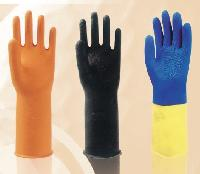 Flock Lined Heavy Weight Rubber Gloves