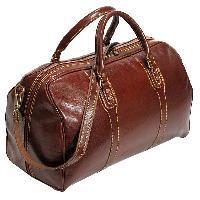 Leather Duffle Luggage Bag