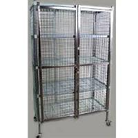 Stainless Steel Wheel Cage Trolley