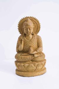 Curved Buddha Handmade Statue
