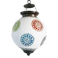 Flower Mosaic Hanging Lamp