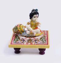 Laddu Gopal On Golden Marble Chowki