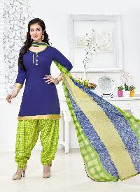Ladies Flavour Presents Blue Patiala Salwar Suit