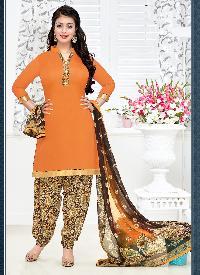 Ladies Flavour Presents Orange Patiala Salwar Suit