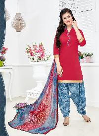 Ladies Flavour Presents Pink Patiala Salwar Suit