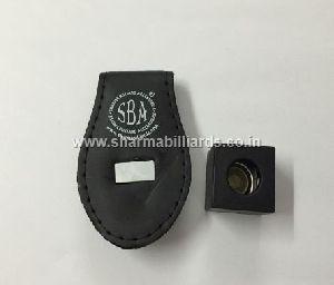 Billiard Chalk Holder Black Leather