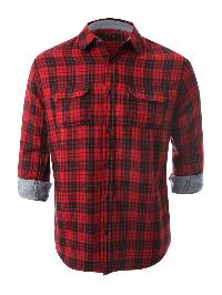 Men's Casual Cotton Checks Shirt