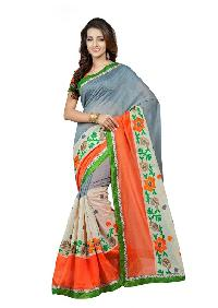 Designer Chanderi Lup Net Sarees