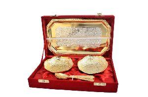 Brass Serving Bowl Set