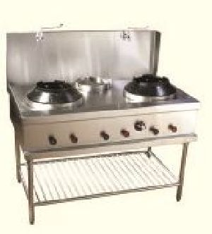 Commercial Chinese Double Burner Gas Stove