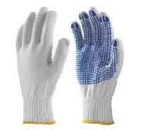 Nylon Knitted Dotted Gloves