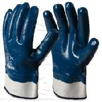 Nitrile Heavy Coated Gloves with Safety Cuff