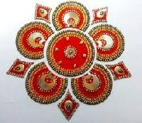 Golden Rangoli Designs