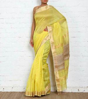 Maheshwari Zari Stripes Silk Saree