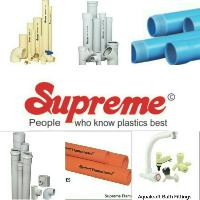 Supreme plastic pvc pipes