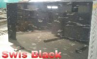 Swiss Black Granite Slabs