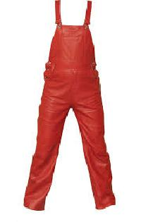 Leather Bib Pants