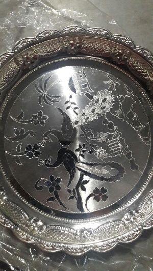 Round Fancy Pooja Plate