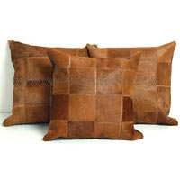 Leather Cow Hide Cushion Covers
