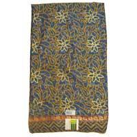 Jaquard Silk Gold Foil Printed Synthetic Saree