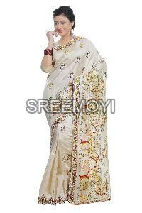 Printed work sarees manufacturers suppliers exporters for Joot work