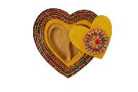 Wooden Heart Shaped Box