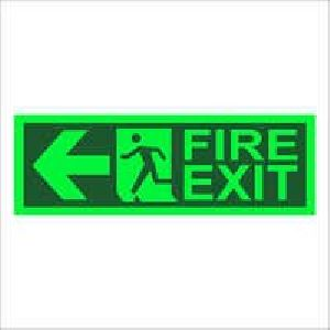 Fire Exit Glow Sign Boards