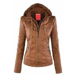 Ladies Full Sleeves Casual Leather Jacket