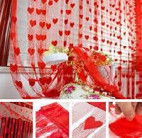 Net Heart Curtains
