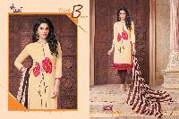 Embroidered Chanderi Cotton Suit