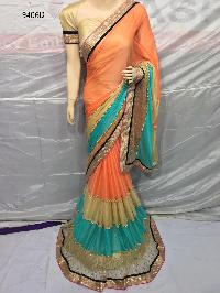 Georgette Saree Colorfull
