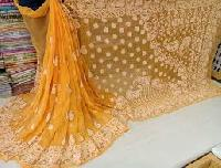 Embroidered Chiffons Sarees