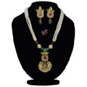 Polki Pearl Necklace Sets