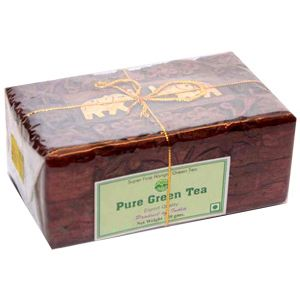 Green Tea In Handcrafted Wooden Box