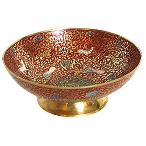 Handcrafted Pure Brass Fruit Bowl