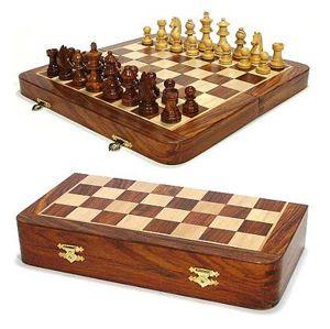 Wooden Folding Chess Set