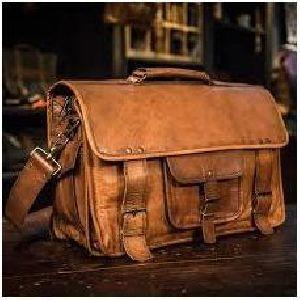 68b85a5dbc66 Goat Leather Bag Vintage Bag. Leather Messenger Bag