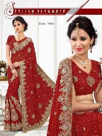 Heavy Designer Bridal Bandhani Saree