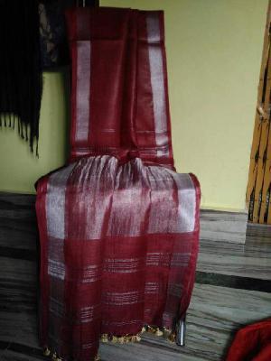 Linen sarees with jari