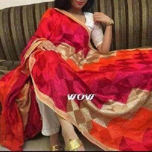 Ladies Chiffon Phulkari Dupatta