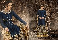 Nevy Blue Bhagalpuri Salwar Kameez