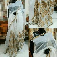 Aari Work Supernet Sarees