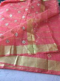 kota cotton sarees with zari checks(KCSZCS3)