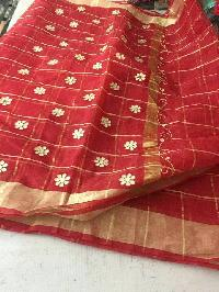 kota cotton sarees with zari checks(KCSZCS4)